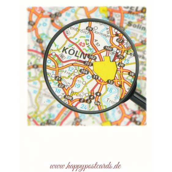 Cologne -Map - PolaCard
