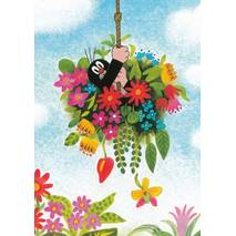 The Mole in Flowers - Postcard