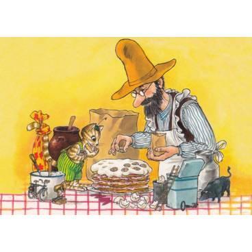 Pettersson und Findus machen Pfannkuchen