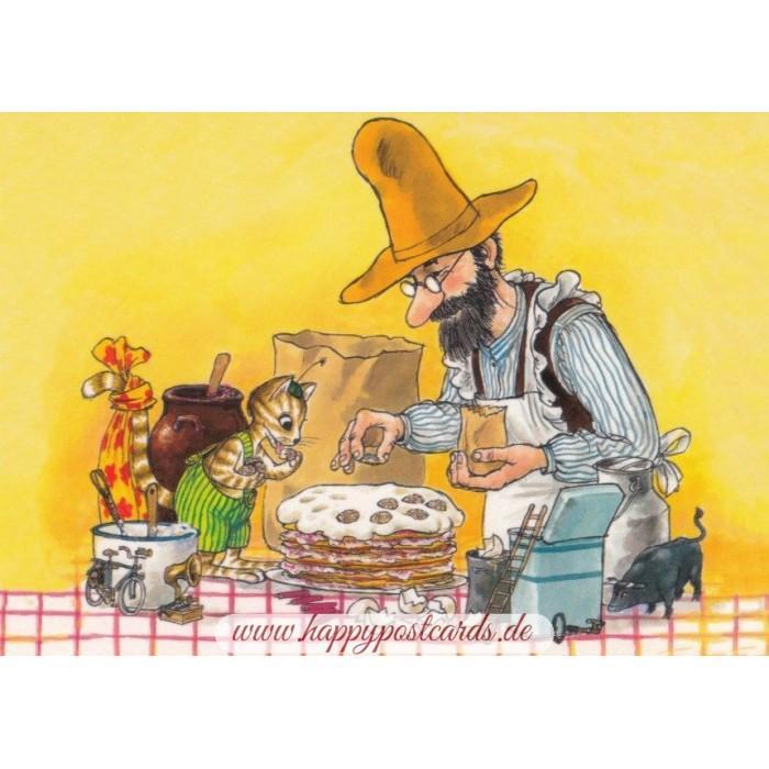 postkarten pettersson und findus pettersson und findus machen pfannkuchen taurus kunstkarten. Black Bedroom Furniture Sets. Home Design Ideas
