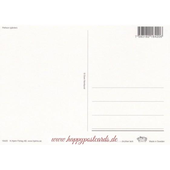 Pettersson im Garten - Postkarte