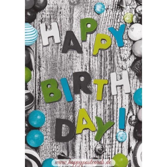 Happy Birthday-2 - Postcard