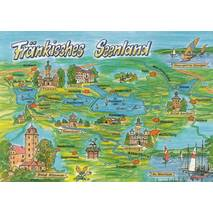 Franconian Lakes - Map - Postcard