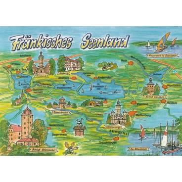 Fränkisches Seenland - Map - Postkarte