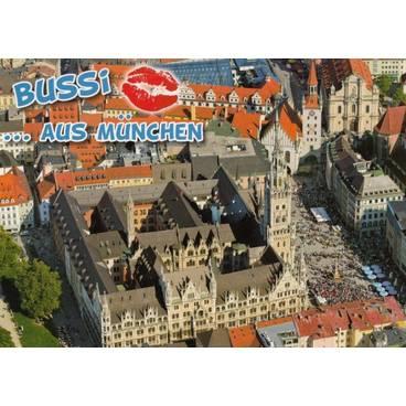 Küsschen-München - Ansichtskarte