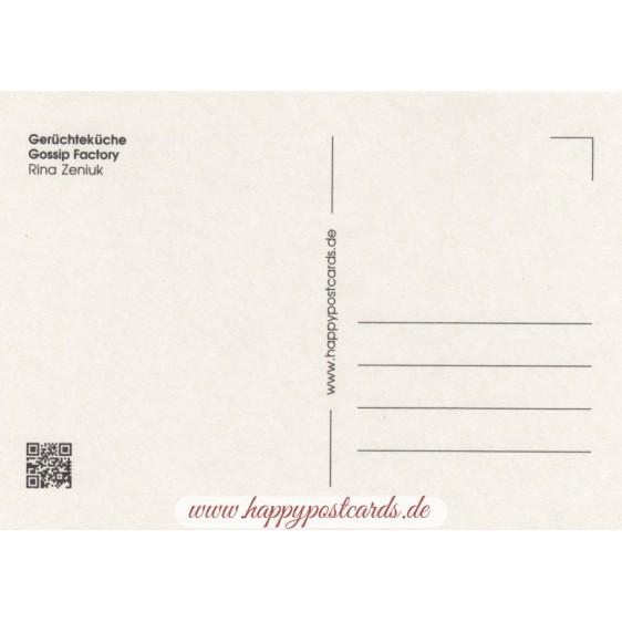 Gerüchteküche - Blaue Katzen - Postkarte
