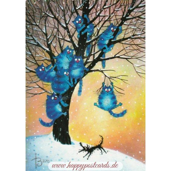 Fear - Blue Cats - Postcard