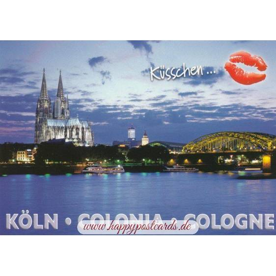Kiss-Cologne Cathedral - Viewcard