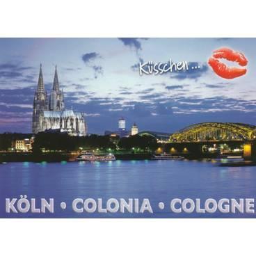 Küsschen-Köln Dom - Ansichtskarte