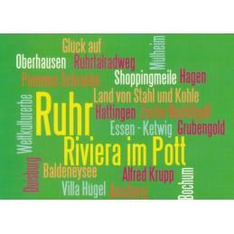 Ruhrtal Words - Viewcard