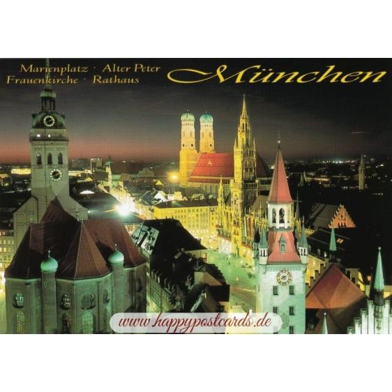 München Marienplatz - Ansichtskarte