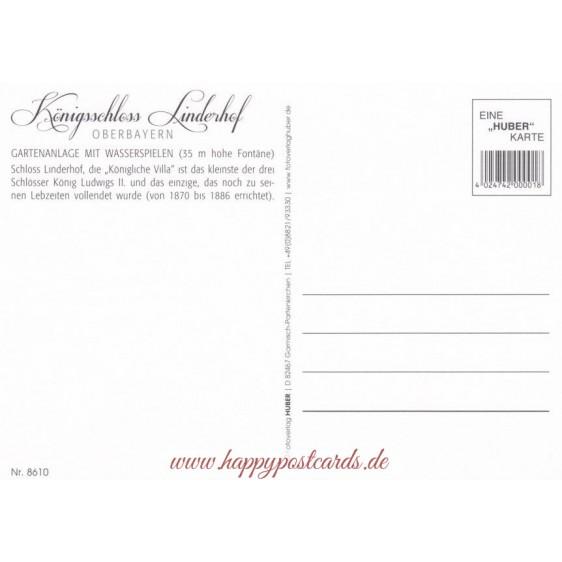 Königsschloss Linderhof - Ansichtskarte
