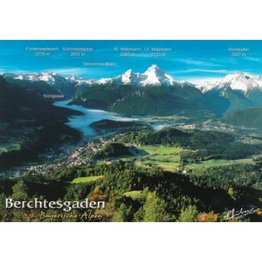 Berchtesgaden - Bayerische Alpen - Ansichtskarte