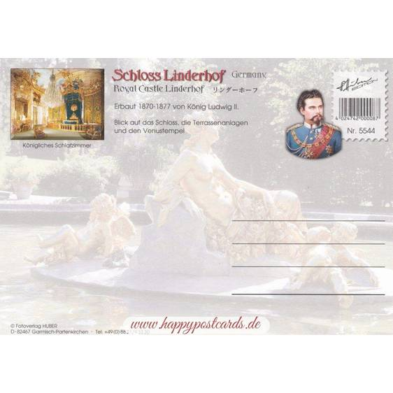 Königsschloss Linderhof 2 - Ansichtskarte