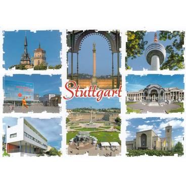 Stuttgart - Weißenhofsiedlung - Ansichtskarte