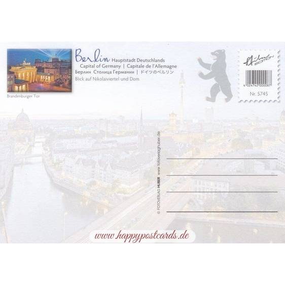 Berlin - Nikolaiviertel and Dom - Viewcard