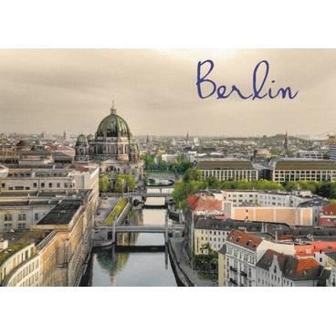 Berlin - Nikolaiviertel and Dom - Viewcard