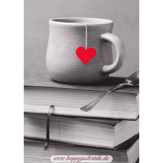 Tea and a Heart - Postcard