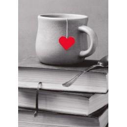 Tea and a Heart - Postcard