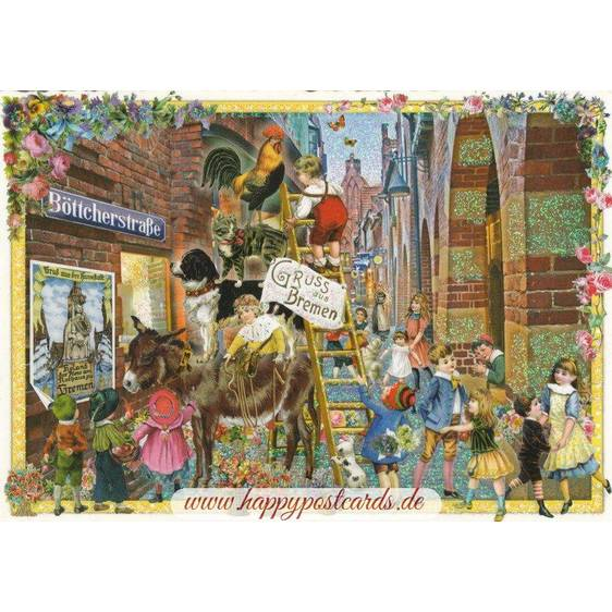 Town Musicians of Bremen - Tausendschön - Postkarte