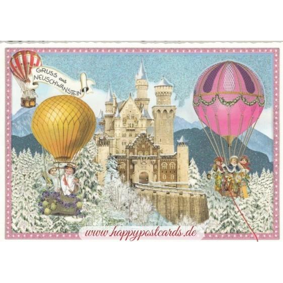 Schloss Neuschwanstein - Tausendschön - Postkarte