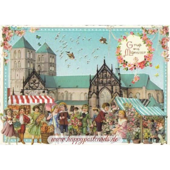 Münster - Tausendschön - Postkarte