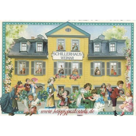 Weimar Schillerhaus - Tausendschön - Postkarte