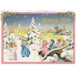 Über diese Brücke - Tausendschön - Weihnachtspostkarte