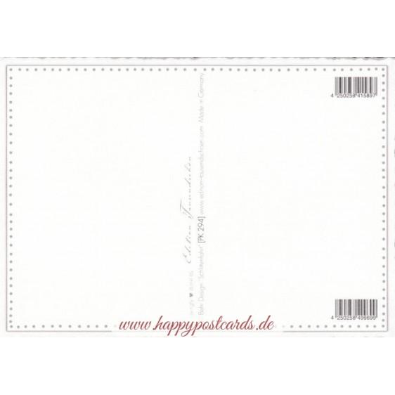 Schlittenfahrt - Tausendschön - Postkarte