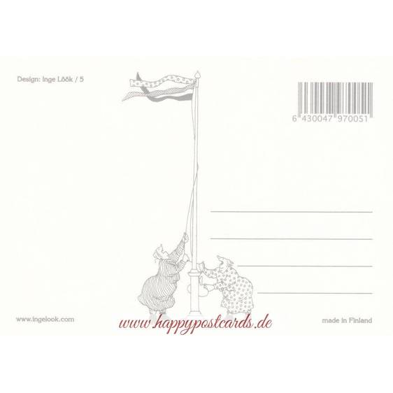 05 - Frauen mit Schlitten - Postkarte