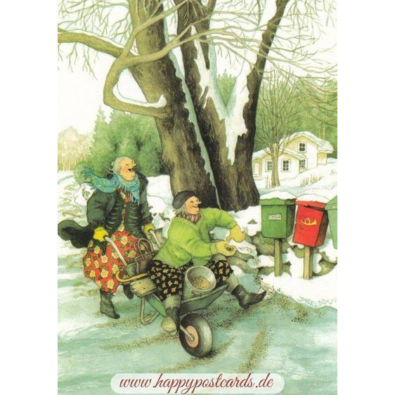 37 - Old Ladies and Mailboxes - Postcard