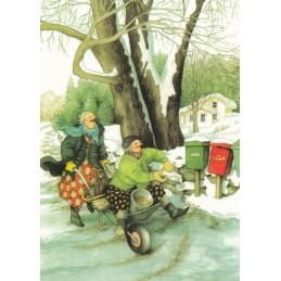 37 - Frauen und Briefkästen - Postkarte