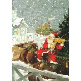 201 - Nikolaus mit Geige - Postkarte