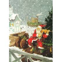 201 - Santa Claus with a Violin - Postcard