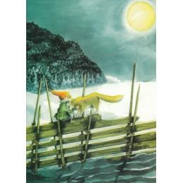 212 - Zwerg mit Wolf  - Postkarte