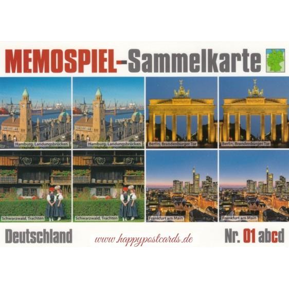 Deutschland 1c - Memospiel-Sammelkarte