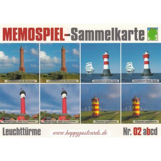 Lighthouses 2b - Collector Card Memory