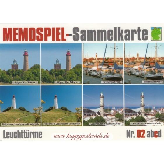 Leuchttürme 2c - Memospiel-Sammelkarte