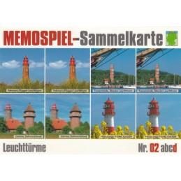 Leuchttürme 2d - Memospiel-Sammelkarte