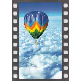 Heißluftballon - Postkarte