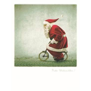 Santa Bicycle/ Merry Xmas - PolaCard