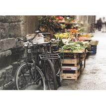 Bicycles at a Vegetable Stand - Postcard