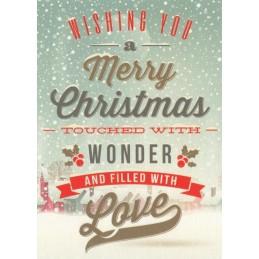 Wishing you a Merry Christmas - Postcard