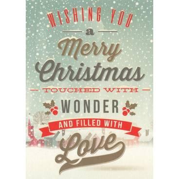 Wishing you a Merry Christmas - Postkarte