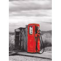 Tankstelle im Nirgendwo - Kontraste - Postkarte
