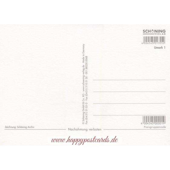 Uckermark - Map - Postkarte