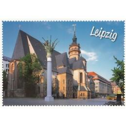 Leipzig Nikolaikirche Briefmarkenrand - Ansichtskarte