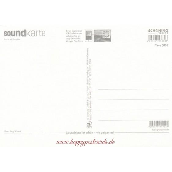 Luchs mit Jungtier - Sound-Karte