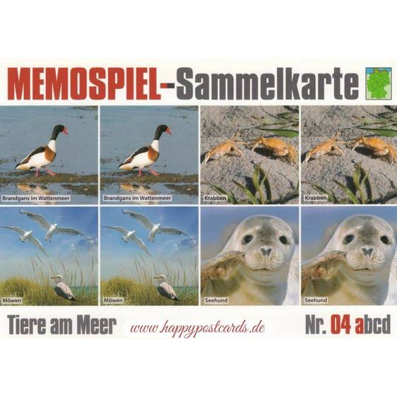 Animals at the Sea 4a - Collector Card Memory