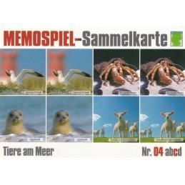 Tiere am Meer 4c - Memospiel-Sammelkarte